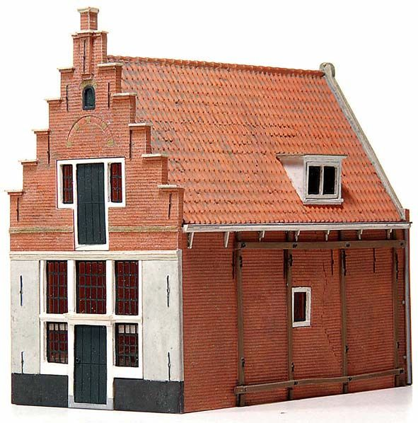 Haus 17. Jahrhundert 'De Koophandel', 1:87, Bausatz aus Resin, unlackiert