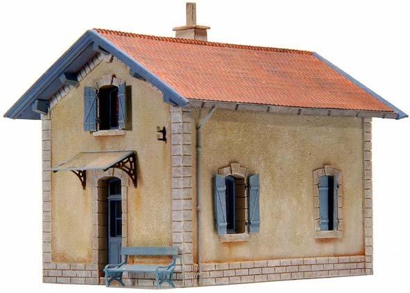 Baanwachtershuisje PLM (Compagnie Paris-Lyon-Méditerranée), 1:87, bouwpakket uit resin, ongeverfd