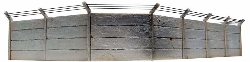 Betonmuren-set, 1:87, bouwpakket uit resin, ongeverfd