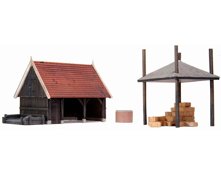 Shed with accessories