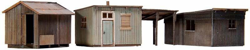 Garden sheds, 1:87, resin kit, unpainted