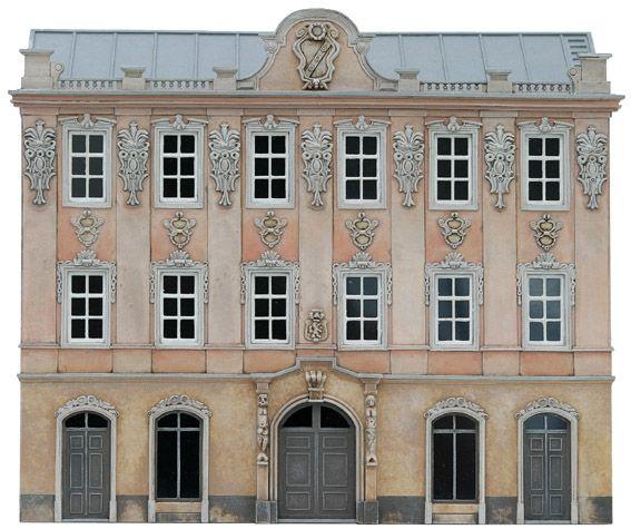 Fassade I, 1:87, Bausatz aus Resin, unlackiert