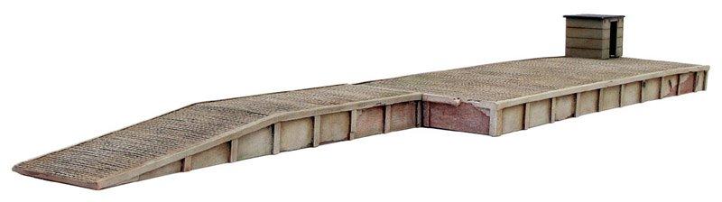 Verlaadperron, 1:87, bouwpakket uit resin, ongeverfd