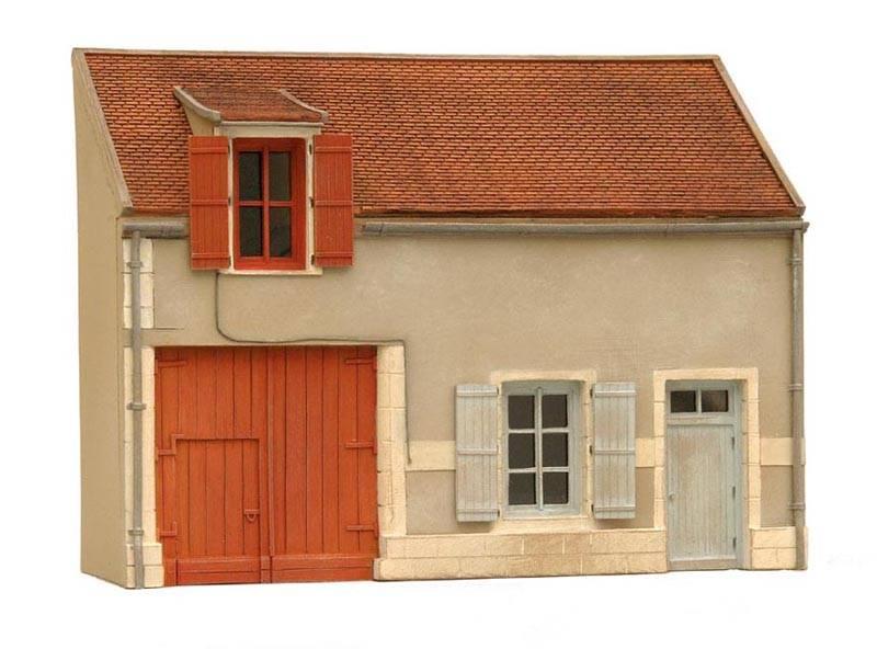 Gevel N Frankrijk, 1:87, bouwpakket uit resin, ongeverfd