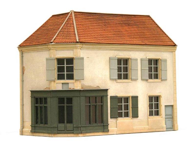 Gevel O Frankrijk, 1:87, bouwpakket uit resin, ongeverfd