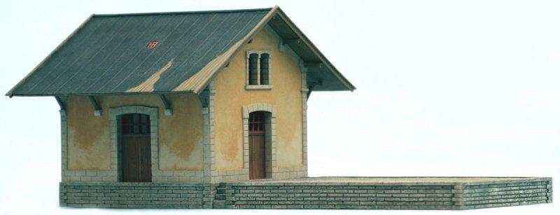 Französisches Lagergebäude, 1:87, Bausatz aus Resin, unlackiert