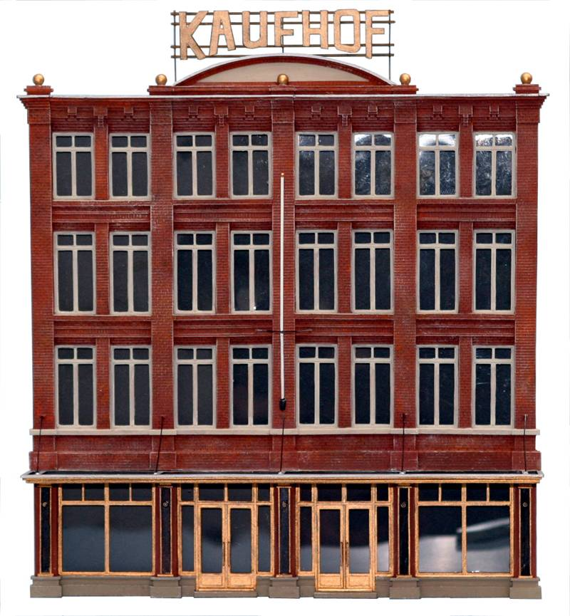 Department store Facade, 1:87, resin kit, unpainted