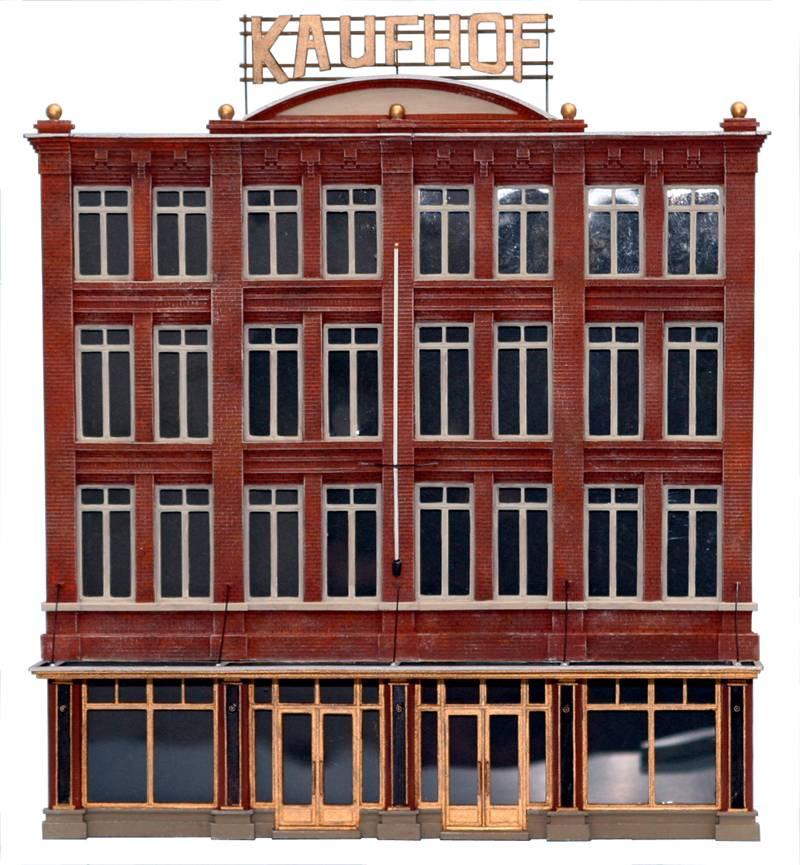 Fassade Kaufhaus, 1:87, Bausatz aus Resin, unlackiert
