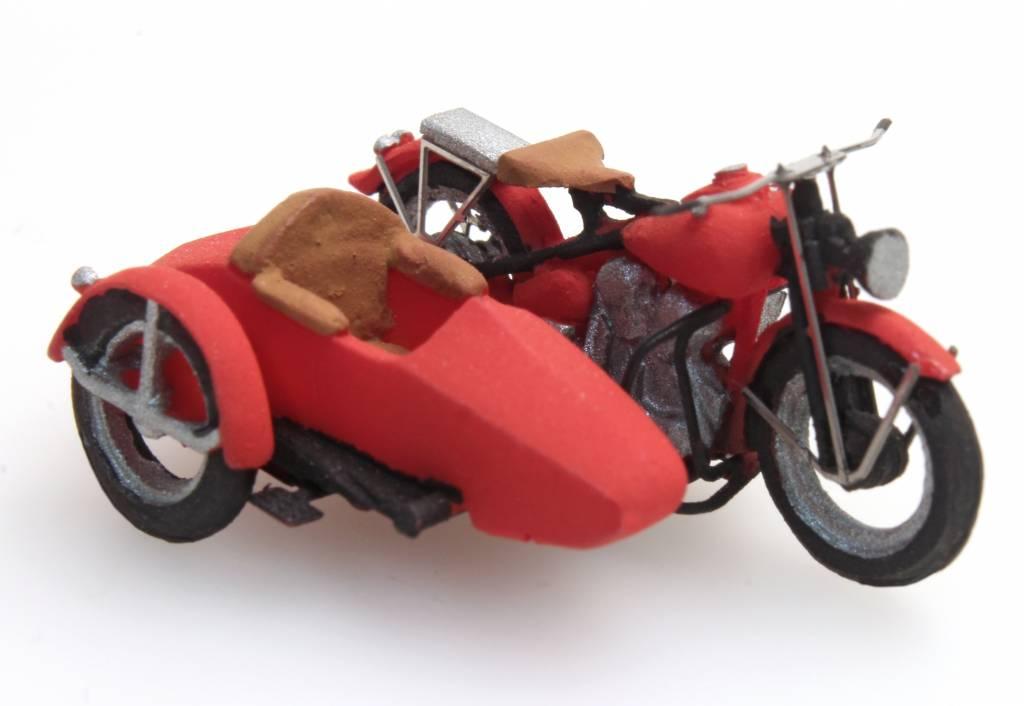 Motor Liberator und Beiwagen, 1:87, Bausatz aus Resin, unlackiert