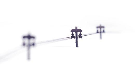 Kabelgeleiders, 10 stuks, 1:87, bouwpakket geëtst, ongeverfd