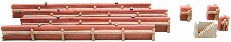 Kademuur uit baksteen, 1:160, bouwpakket uit resin, ongeverfd