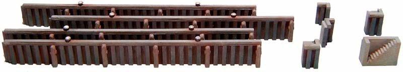 Kademuur uit damwandprofiel, 1:160, bouwpakket uit resin, ongeverfd