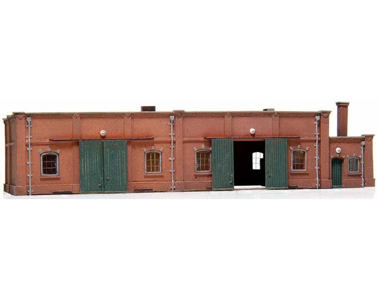 Lagergebäude aus Ziegelstein 1:160