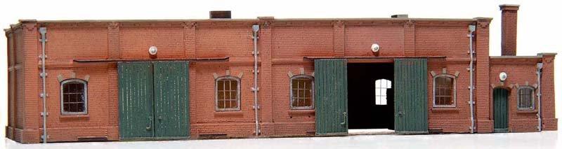 Lagergebäude aus Ziegelstein, 1:160, Bausatz ausResin, unlackiert