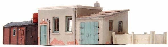 Utility buildings for railway workers, 1:160, resin kit, unpainted