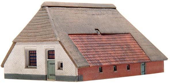 Farm house Los Hoes, 1:160, resin kit, unpainted