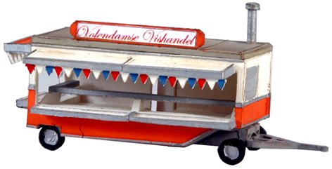Fish and chips stand, 1:160, resin kit, unpainted