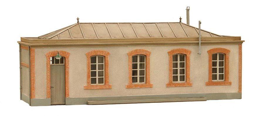 Lampenmagazijn, Frankrijk, 1:160, bouwpakket uit resin, ongeverfd