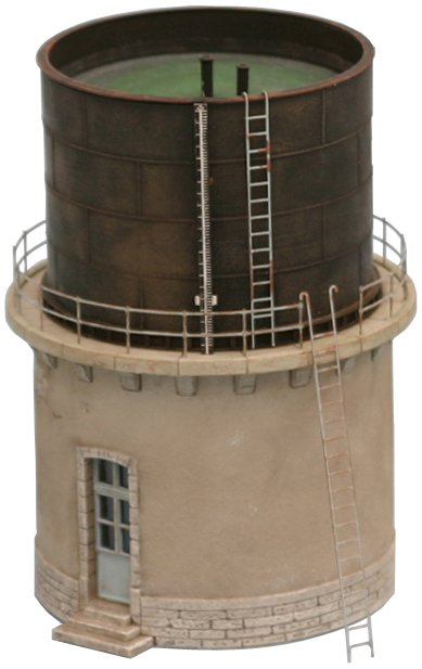 Franse watertoren, 1:160, bouwpakket uit resin, ongeverfd