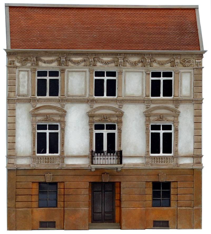 Gable notary's office, 1:160, resin kit, unpainted