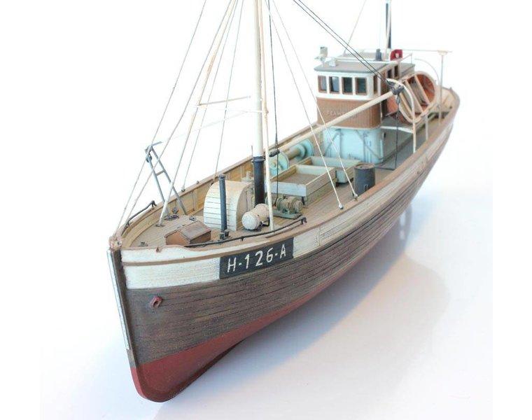 Norwegean fishingboat Framtid I full hull