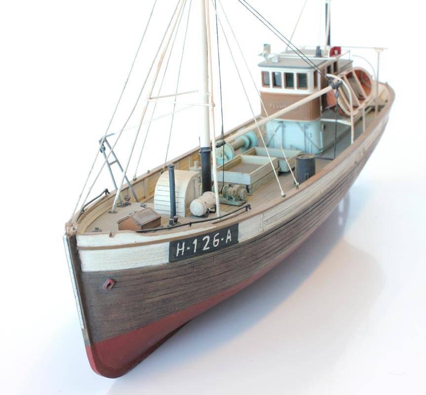 Norwegisches Fischerboot Framtid I Vollrumpf - Bausatz aus Resin - 1:87