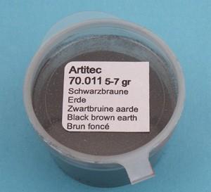 Zwartbruine aarde (modelbouwpoeder)