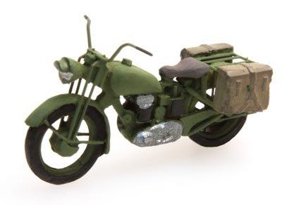 U.K. Truimph military motorcycle, 1:87 resin kit, unpainted