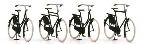 Bikes old, 1:160, etched ready made, painted