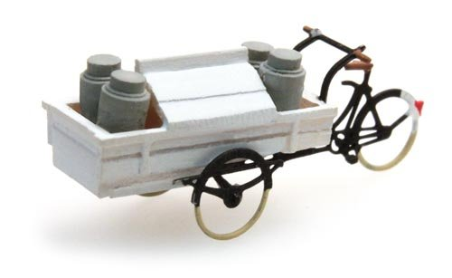 Carrier tricycle dairy, 1:160, resin ready made, painted