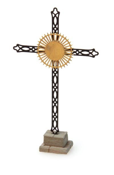 Roadside memorial cross, 1:160, etched ready made, painted