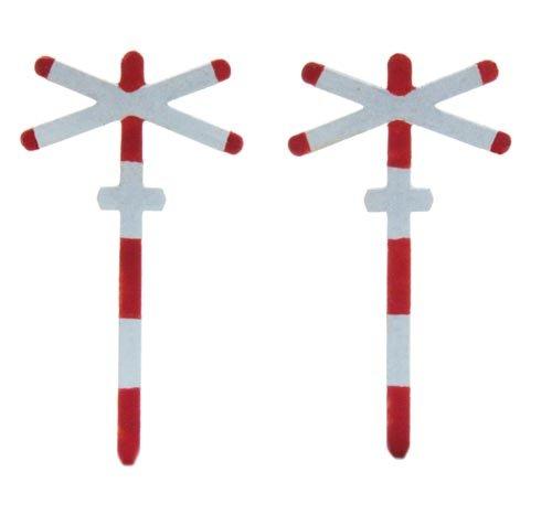 Andreaskreuz eingleisig, 2 Stück, 1:160, Fertigmodell ausÄtzteilen, lackiert
