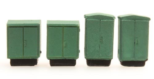 Switchboxes, 4 pieces, 1:160, resin ready made, painted