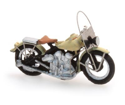 US motorcycle Liberator civiel creme, 1:87 ready-made