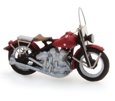 US motorcycle Liberator civiel rood, 1:87 ready-made