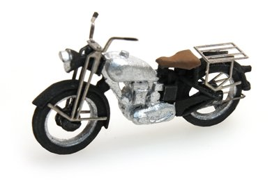 Motor Triumph civiel, zilver, 1:87 kant en klaar resin, geverfd