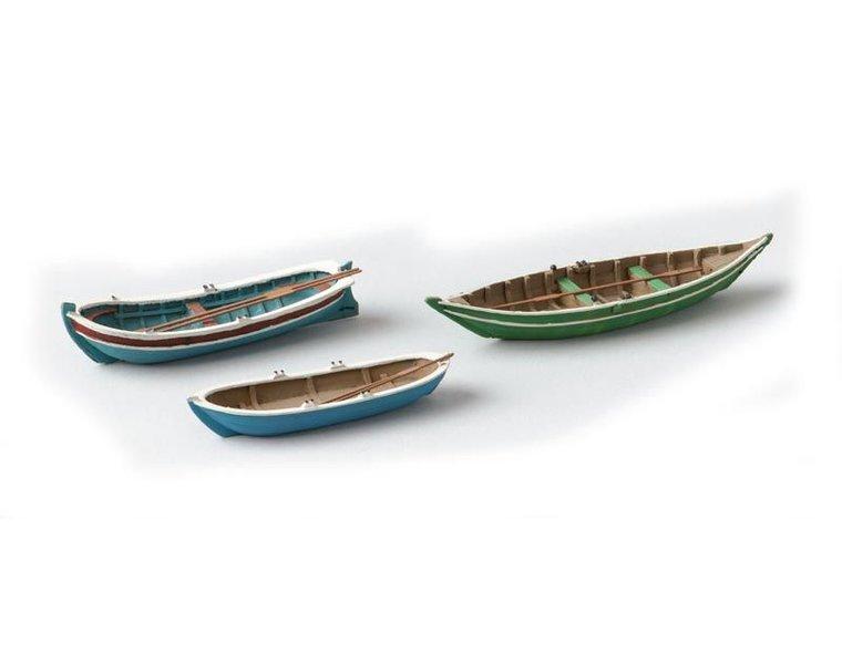 Ruderboote 3 Stück