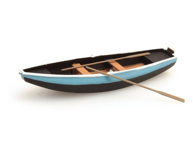 Steel rowboat blue