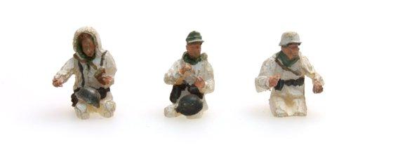 Besatzung Kübelwagen mit Winteruniform, 3 Figuren