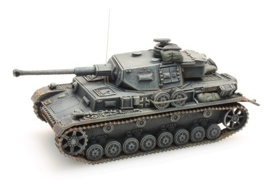 Panzer IV Ausf. F2 Ostfront, grijs, 1:87 kant en klaar resin, geverfd