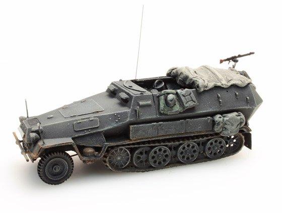 Sd.Kfz 251/2B, 8cm, Granatwerfer, grijs, 1:87 kant en klaar resin, geverfd