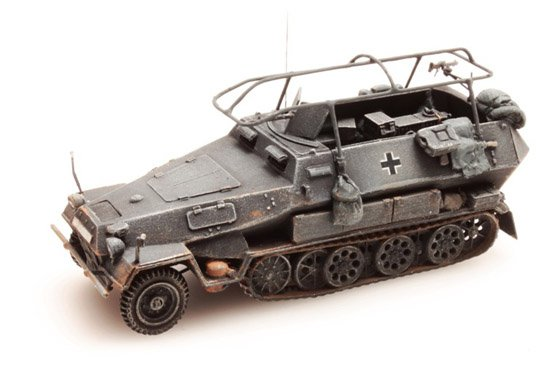 Sd.Kfz 251/3B Funkpanzerwagen, grau, 1:87 Fertigmodell ausResin, lackiert