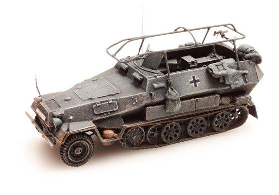 Sd.Kfz 251/3B Funkpanzerwagen, grijs, 1:87 kant en klaar resin, geverfd