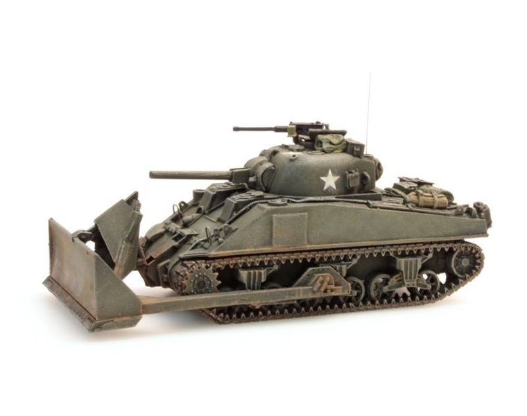 Sherman M4, dozer tank, UK / US