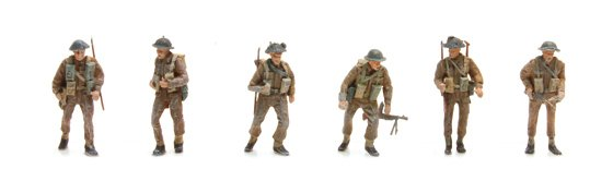 UK Infantry 6 figuren