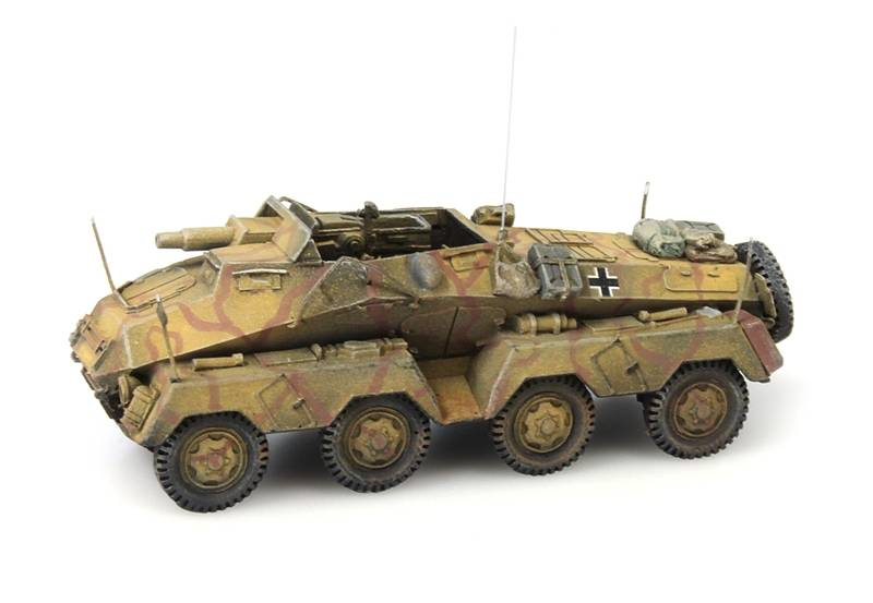 Sd.Kfz. 233 8-Rad 75 dunkelgelb, 1:87 resin ready made, painted