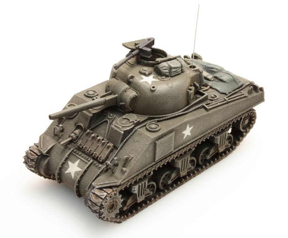 Sherman M4 stowage 1, 1:87 resin ready made, painted