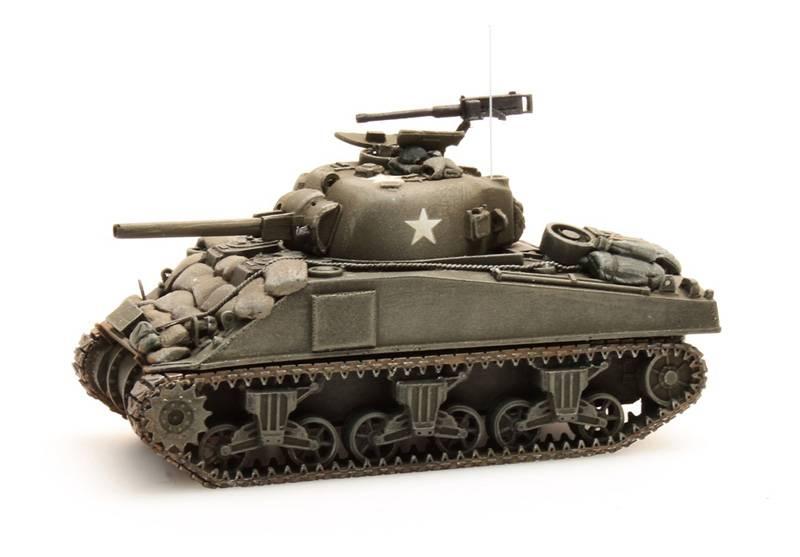 Sherman M4 stowage 2, 1:87 kant en klaar resin, geverfd