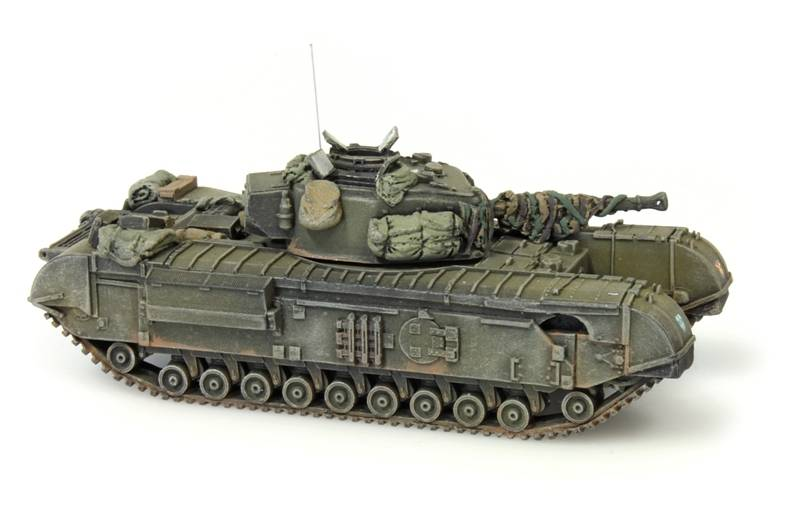 Churchill Tank mk VII, 1:87 resin ready made, painted