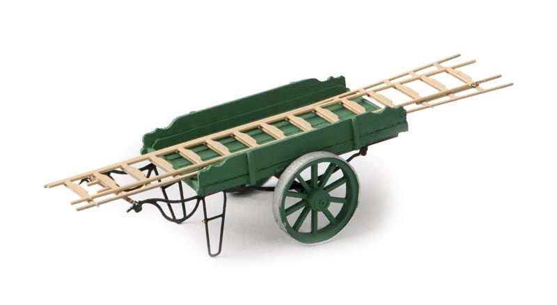 Ladder pushcart green